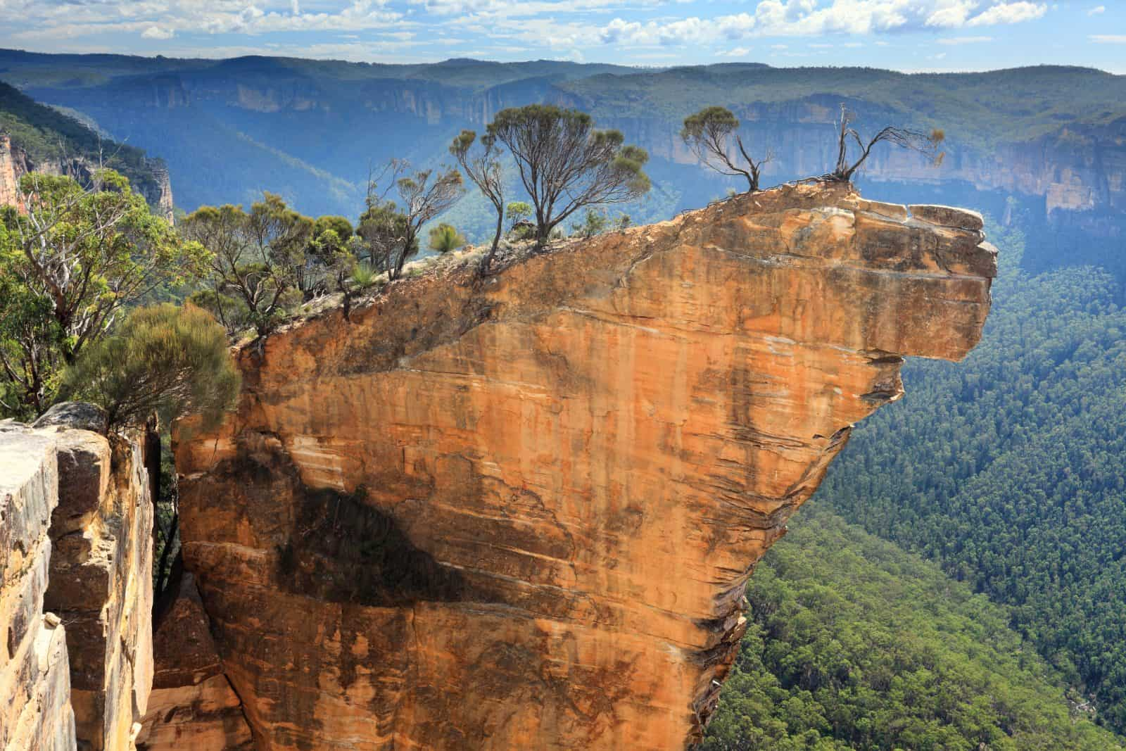 Hanging Rock in the Blue Mountains, Australia.