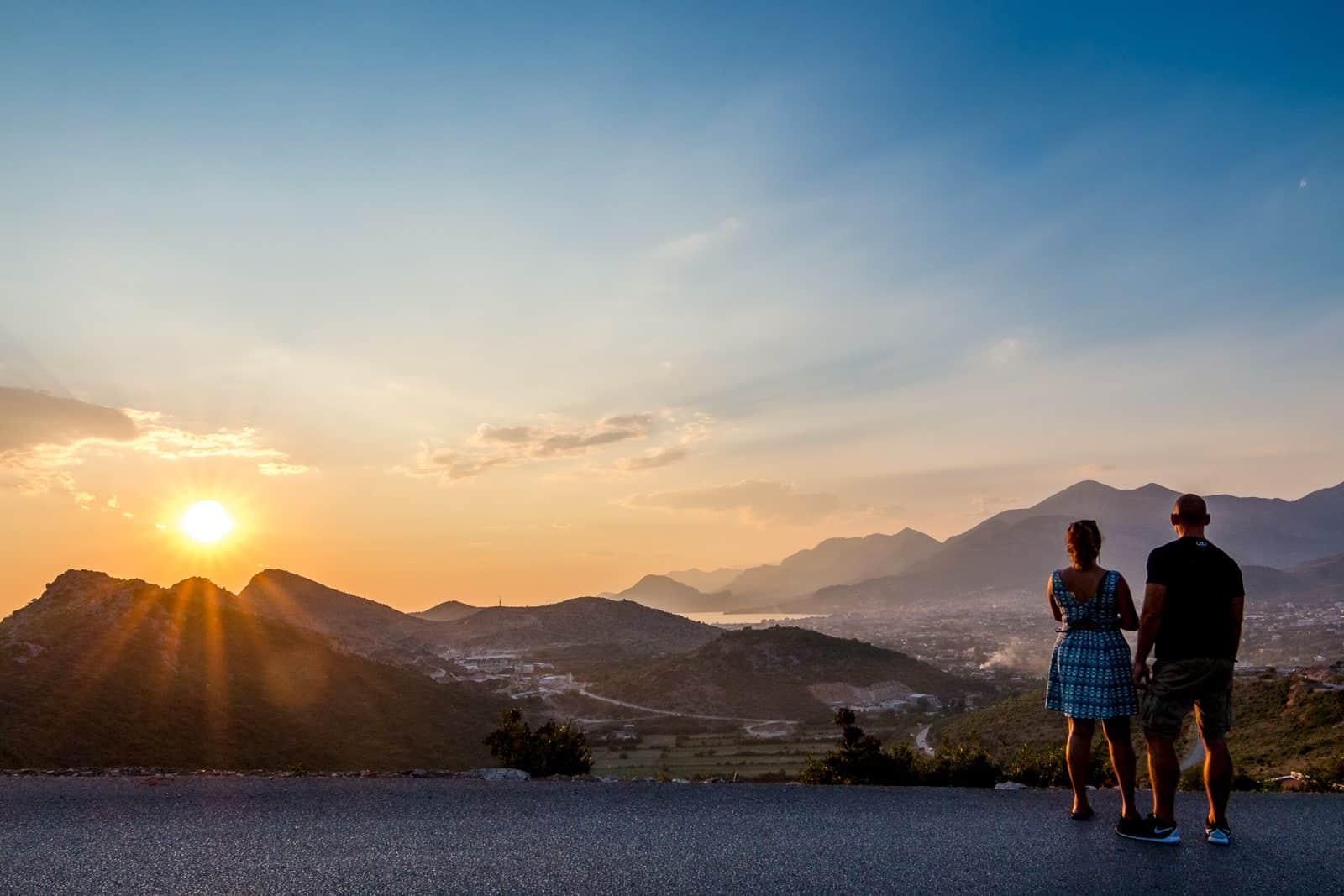 Sunset in Montenegro.