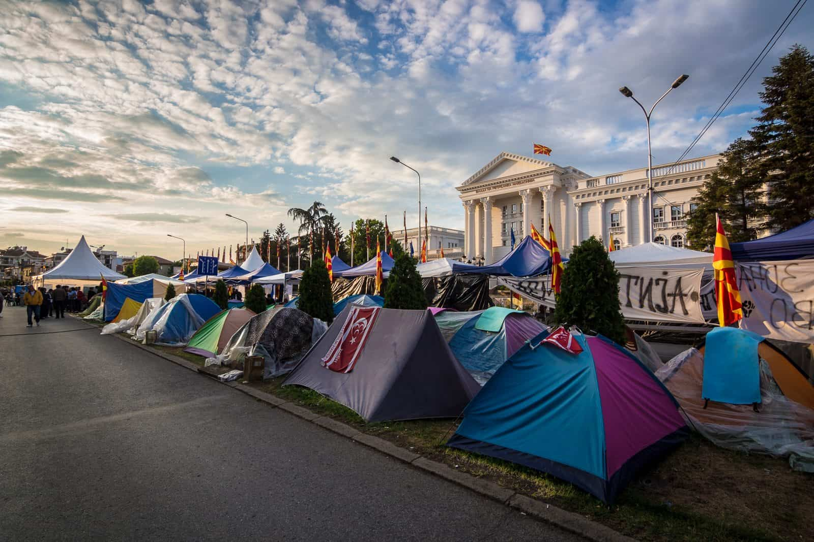 Government Protests in Skopje, Macedonia.