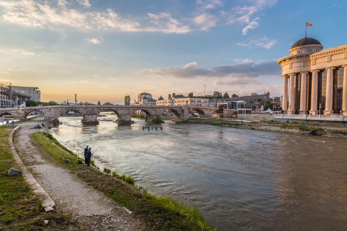 The Stone Bridge in Skopje, Macedonia, Travel in the Balkans