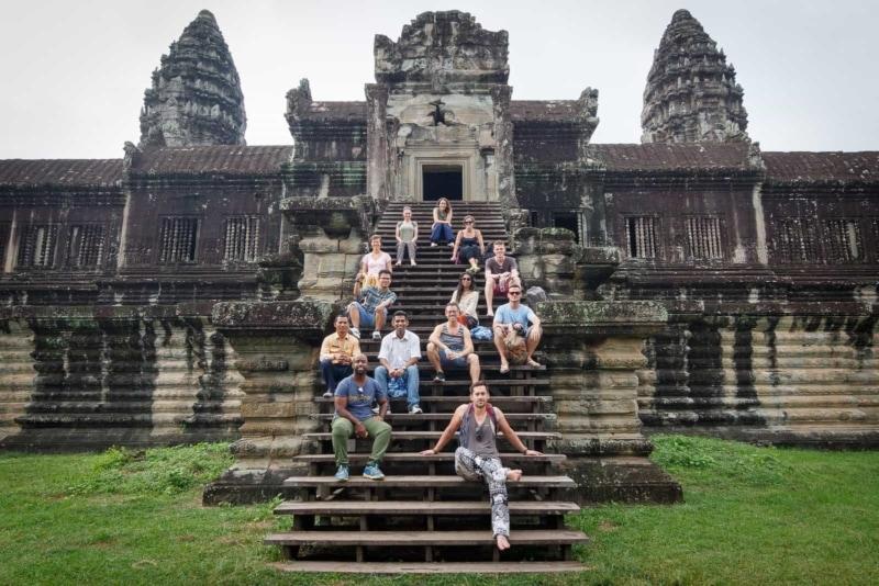 The HOJ crew at Angkor Wat.