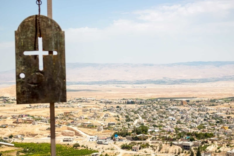 Looking out over Bethlehem.