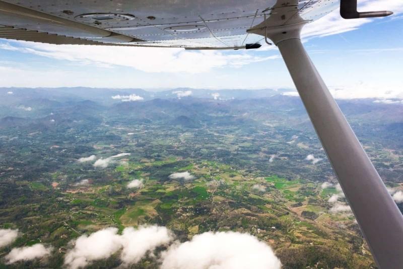 Flying over North Carolina