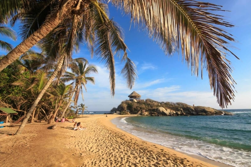 You can't visit Colombia without visiting the Tayrona National Park—it's one of the best places to visit in Colombia.