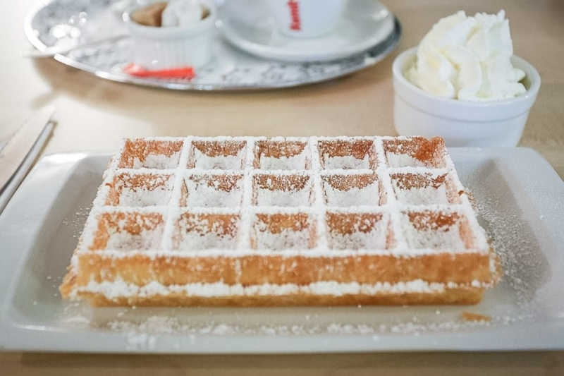 A typical Brussels waffle