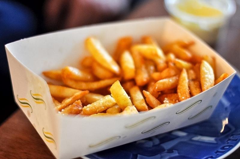 Traditional Belgian frites