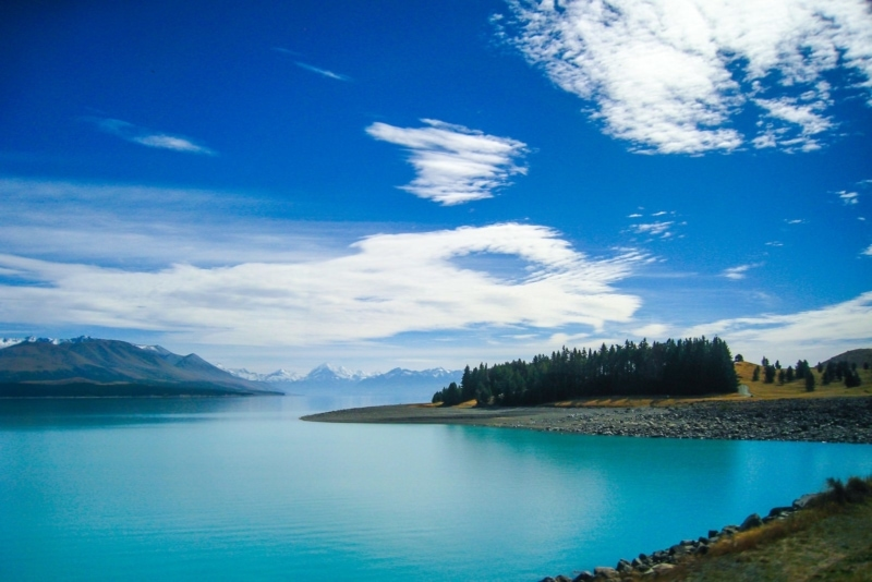 A beautiful teal lake in New Zealand
