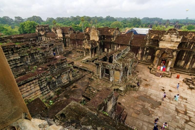 Inside Angkor Wat in Siem Reap, Cambodia