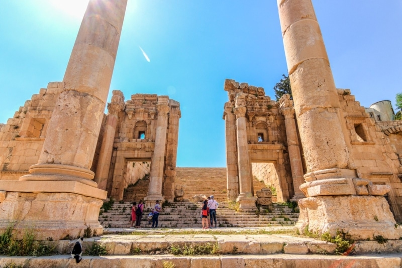 The ancient ruins of Jerash in Amman, Jordan