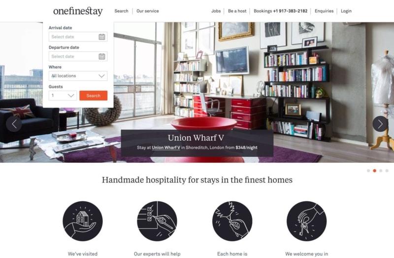 onefinestay is a luxury website like Airbnb
