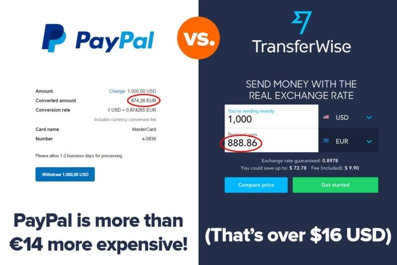 Paypal vs. TransferWise