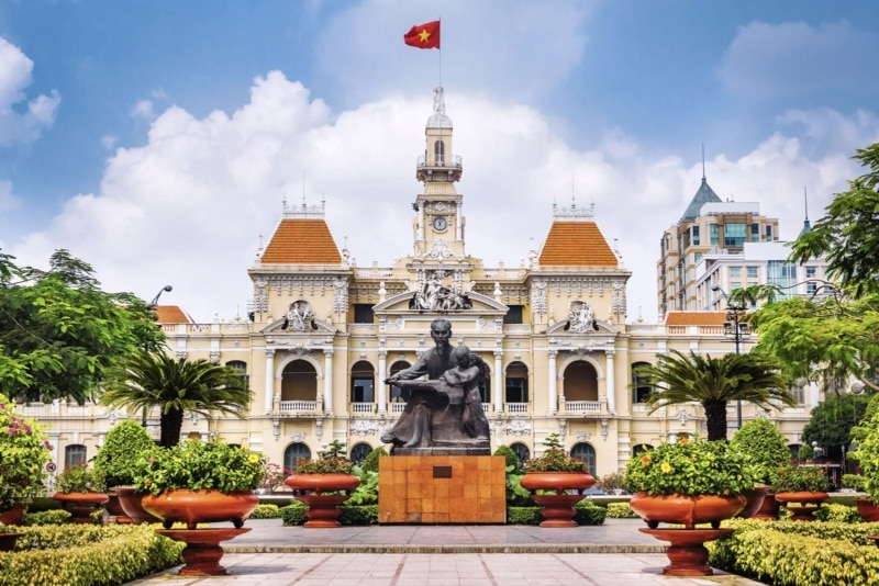 Ho Chi Minh City Hall, built in French colonial style for Saigon