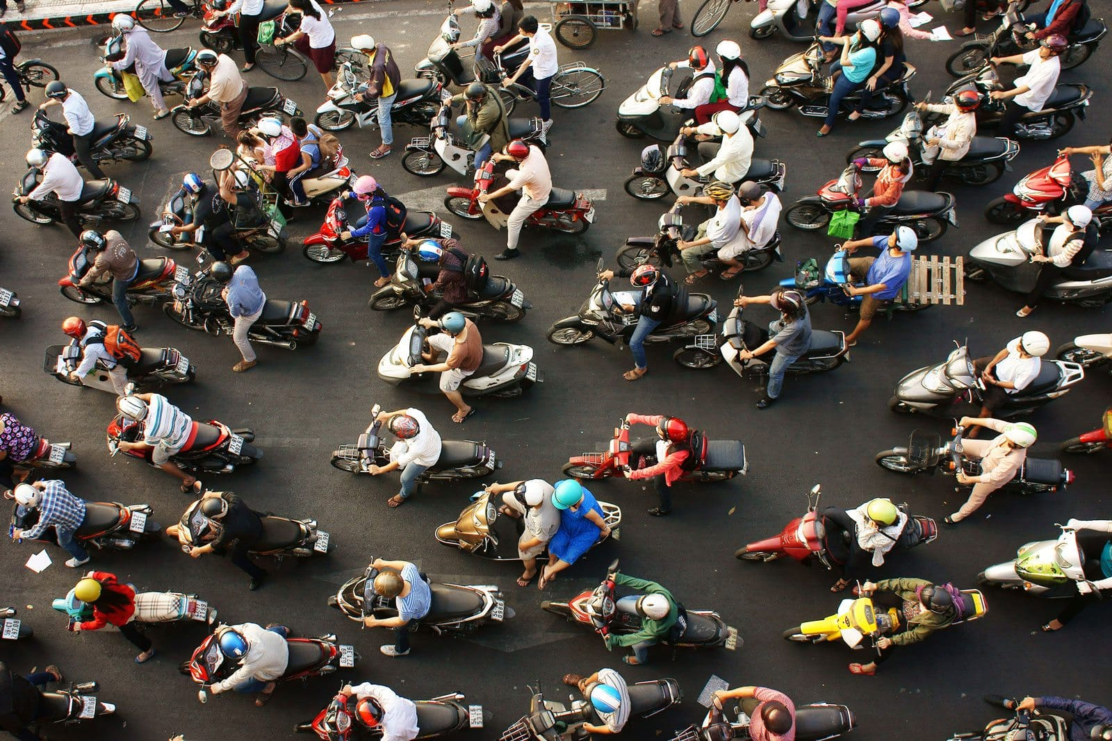 The chaotic streets of Ho Chi Minh City, Vietnam