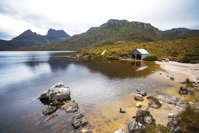 Boat shed on the Cradle Mountain Hike