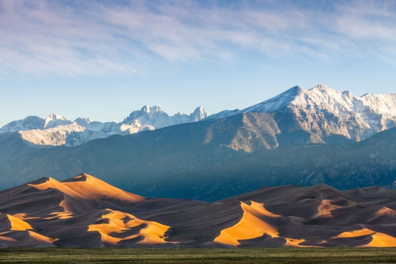 The Great Sand Dunes National Park in San Luis Valley near Alamosa, Colorado