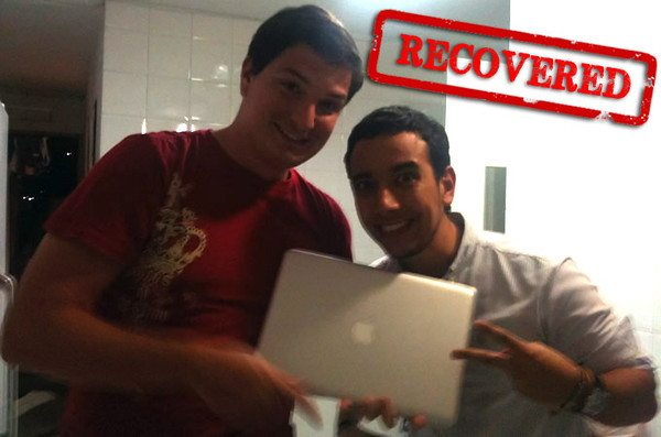 Laptop recovered!