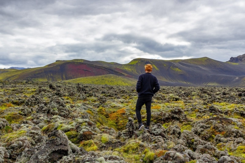 Otherworldly landscapes near the Hekla Volcano in Iceland