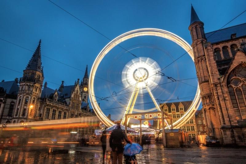 Rainy in Ghent, Belgium