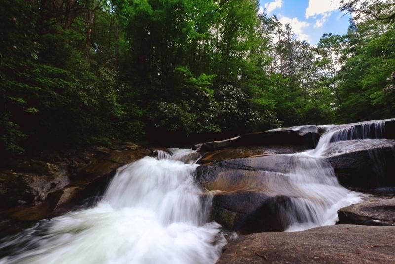 A hidden waterfall along the Blue Ridge Parkway