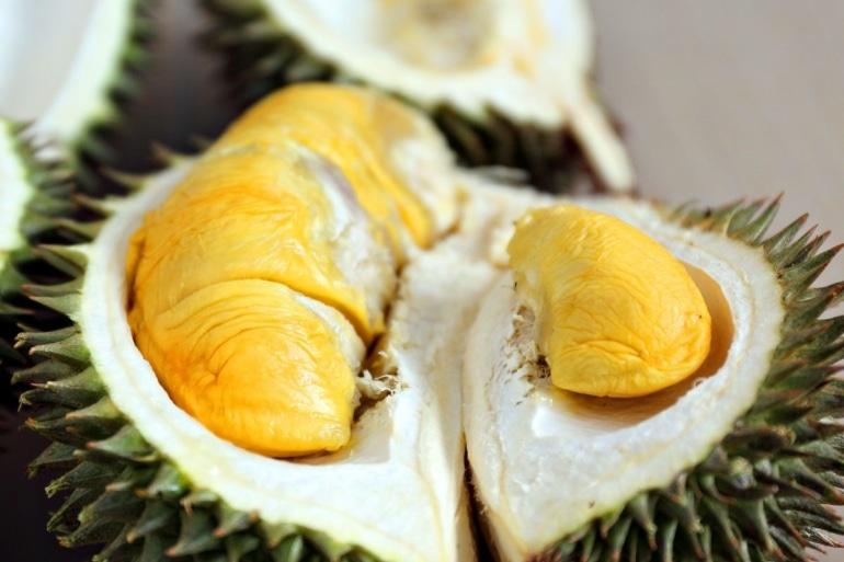 The inside of a durian is WEIRD.