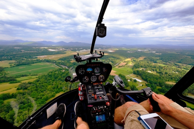 Helicopter ride over Asheville, NC