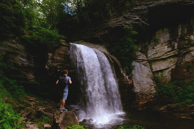 Adventure Activities in Asheville, NC: Looking Glass Falls