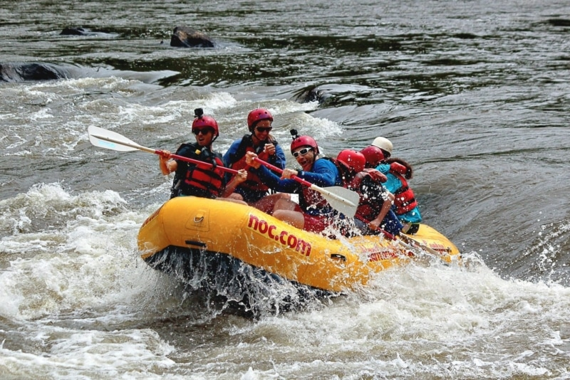 Whitewater rafting with Nantahala Outdoor Center