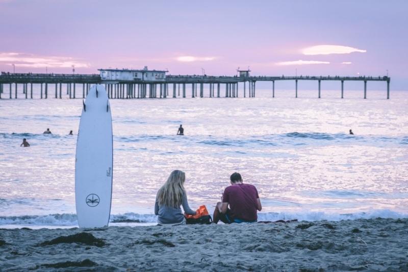 Sundown in Ocean Beach, San Diego