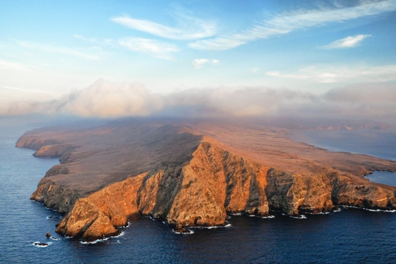 Santa Cruz Island, the largest of Santa Barbara's Channel Islands