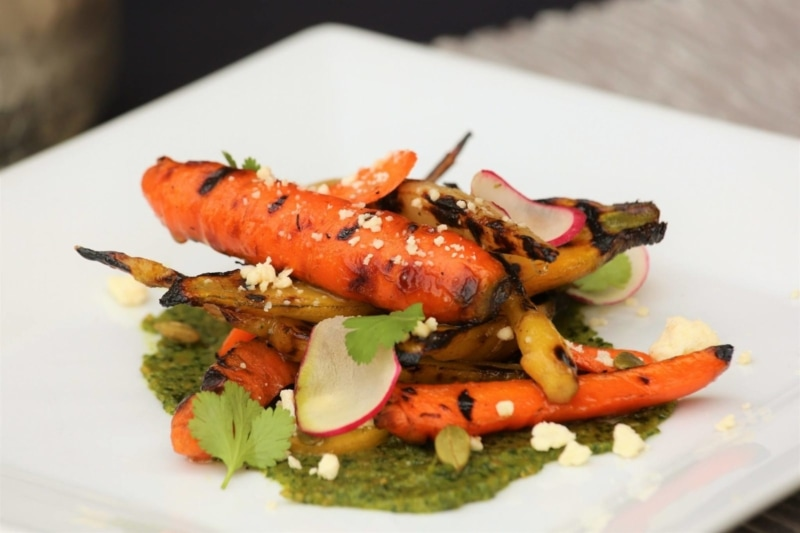 Gourmet veggies at Zambra, one of the best places to eat in Asheville