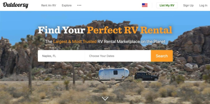 Outdoorsy is for campervans and RVs!