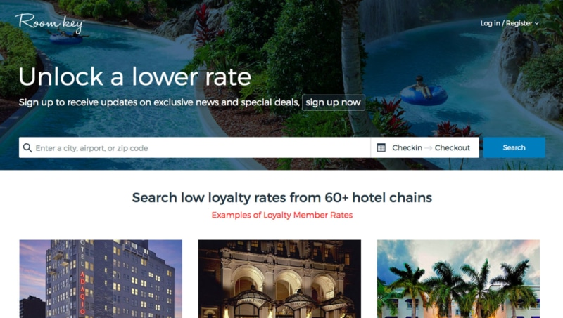Roomkey is great for bargain rates