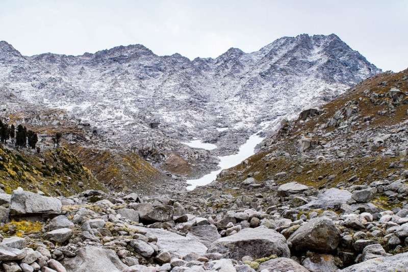 Traveling in May to the wintery Indrahar Pass in India.