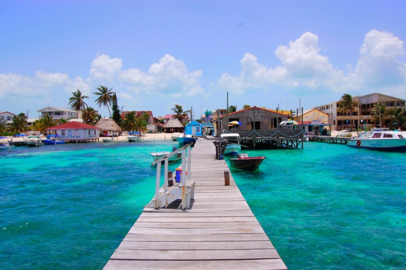 Belize Tropical Ambergris San Pedro Caye Water