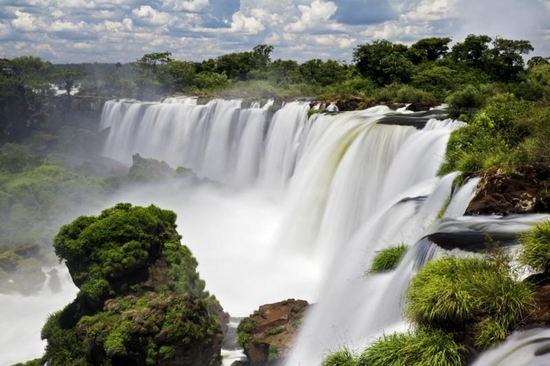 Incredible Iguazu Falls view.