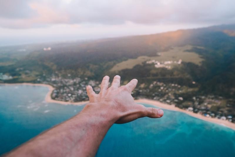 Oahu aerial shot