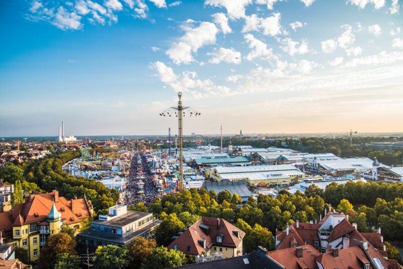Aerial view of Oktoberfest