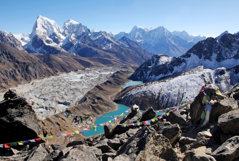 Views of Gokyo Lake, Everest Area, Nepal