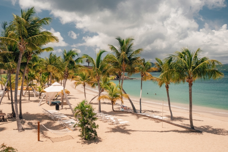 The Buccaneer Beach on the island of St. Croix