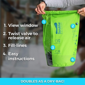 Scrubba Wash Bag is a must have item for both male and female travelers!
