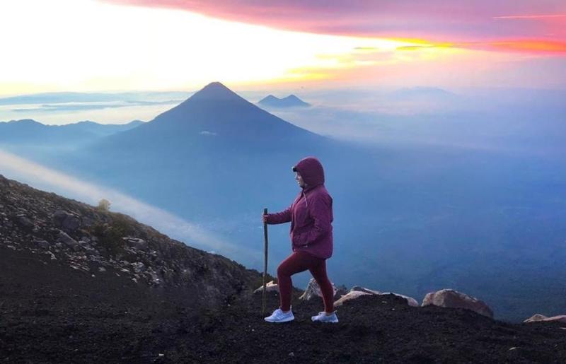 Hiking the Acatenango Volcano outside Antigua in Guatemala