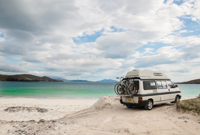 Campervan rental on the beach