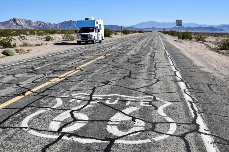 RV rental on Route 66, California
