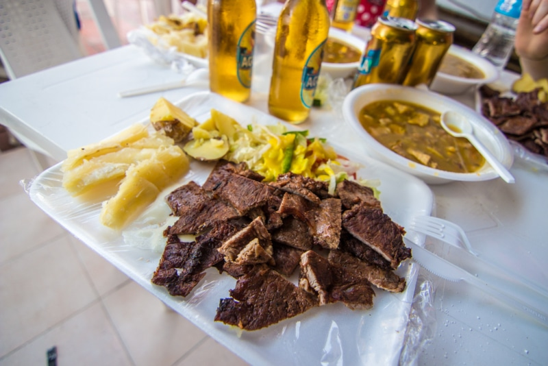 A delicious plate of Colombian food!