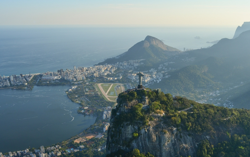 Christ the Redeemer overlooking Rio de Janeiro, Brazi