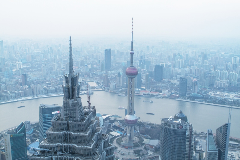 smog over a Chinese city