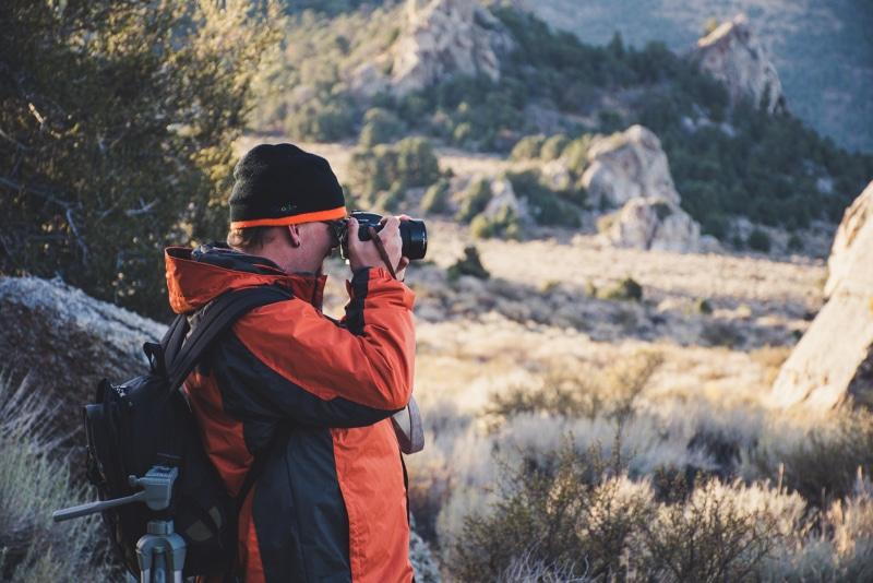 Elderly male photographer
