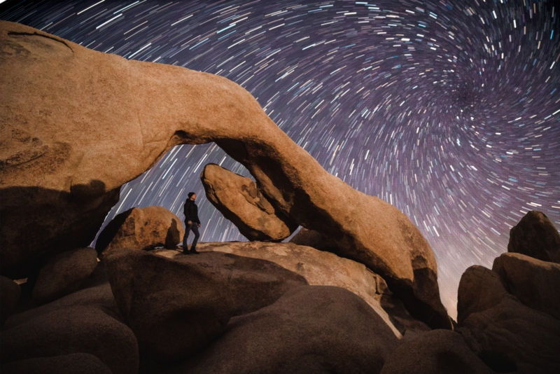 Starry Skies at Arch Rock
