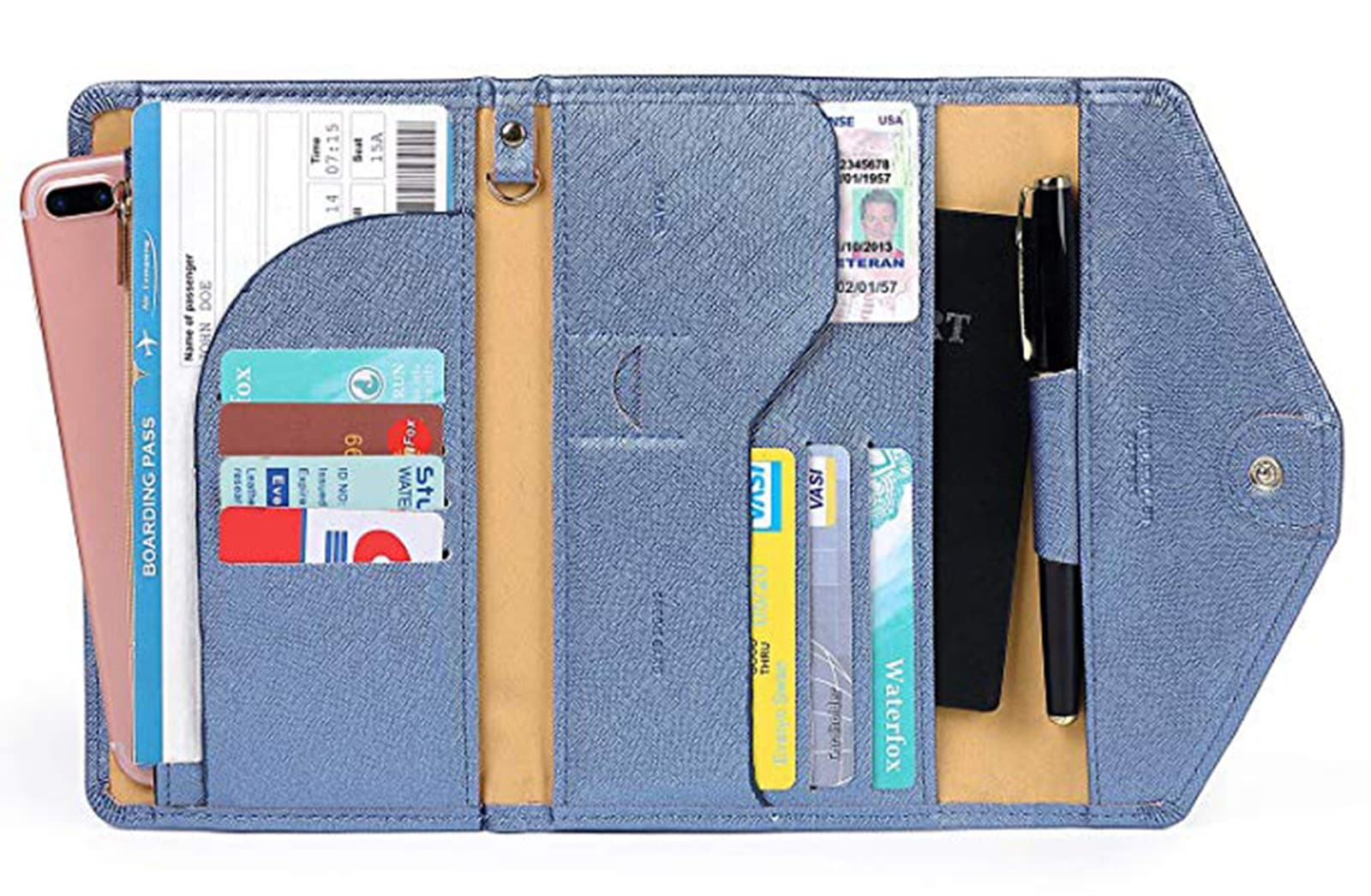 Zoppen Travel Wallet with credit cards and IDs