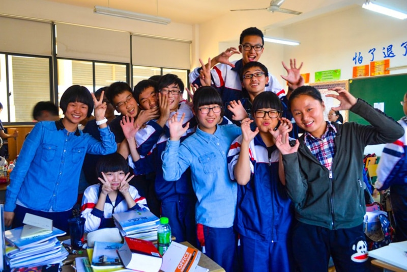 Students in Wuxiang, China